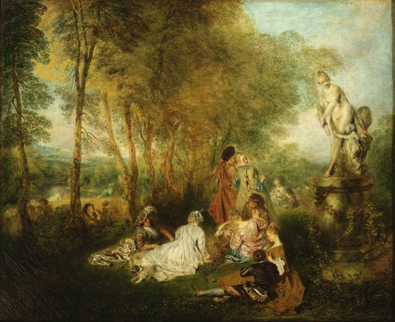 Antoine Watteau, The Love Festival, oil on canvas, 61 x 75 cm, Gemäldegalerie Alte Meister © State Art Collections in Dresden