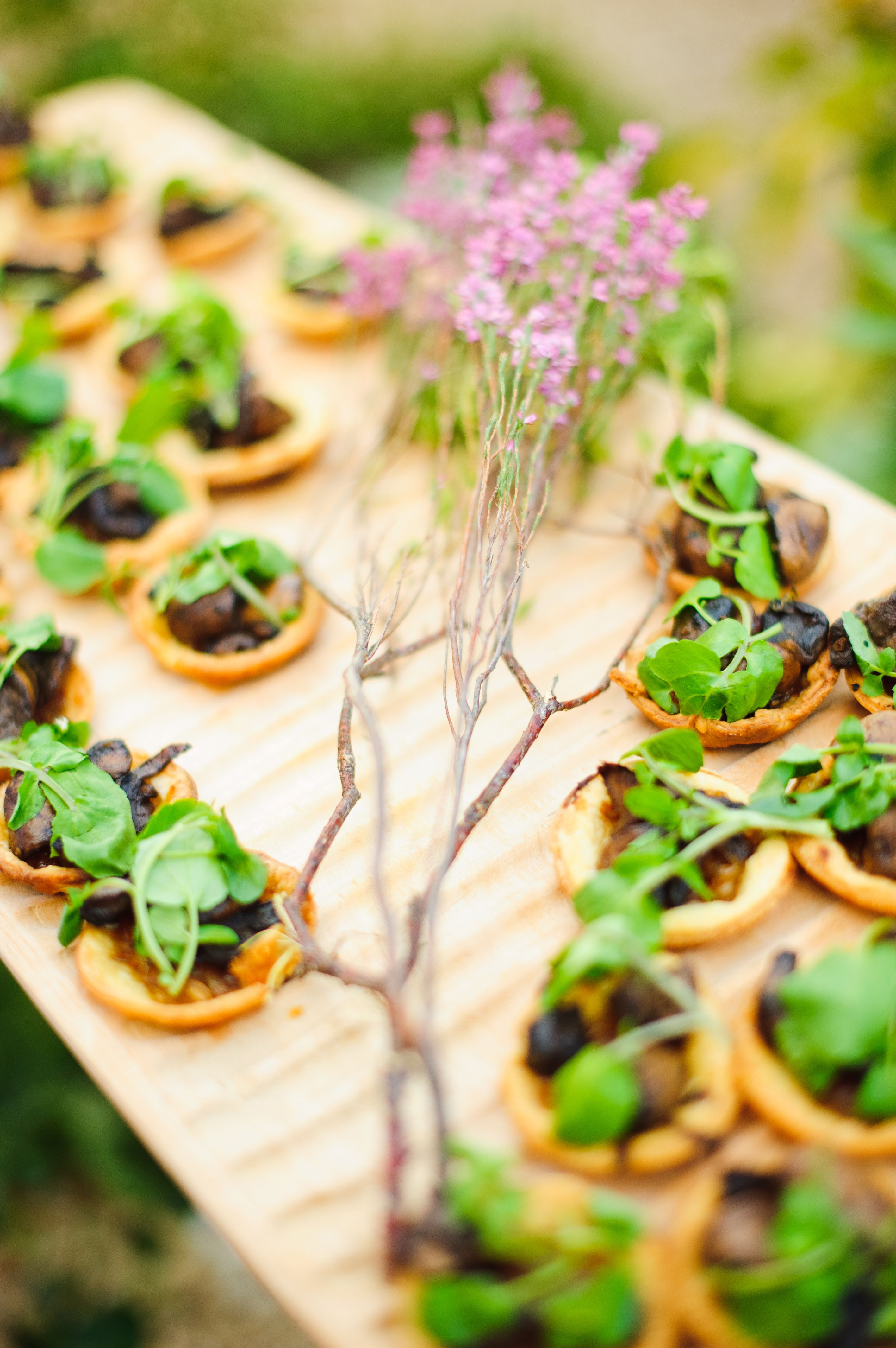 Wedding canapes hand made toasted garlic bread canape for Where to buy canape cups