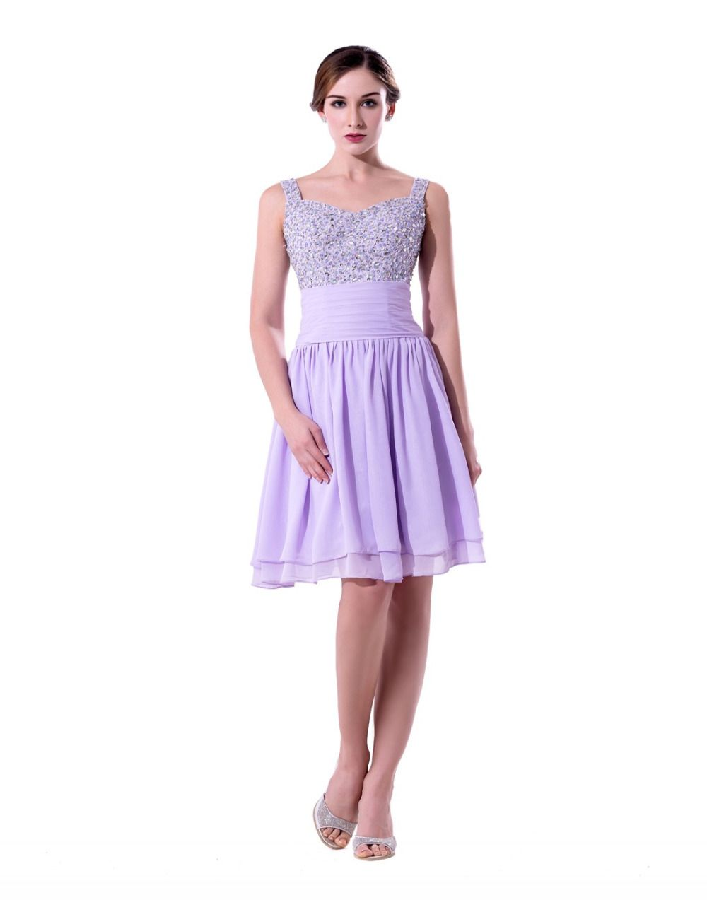 Purple Dresses for Weddings Knee Length - Dress for Country Wedding ...