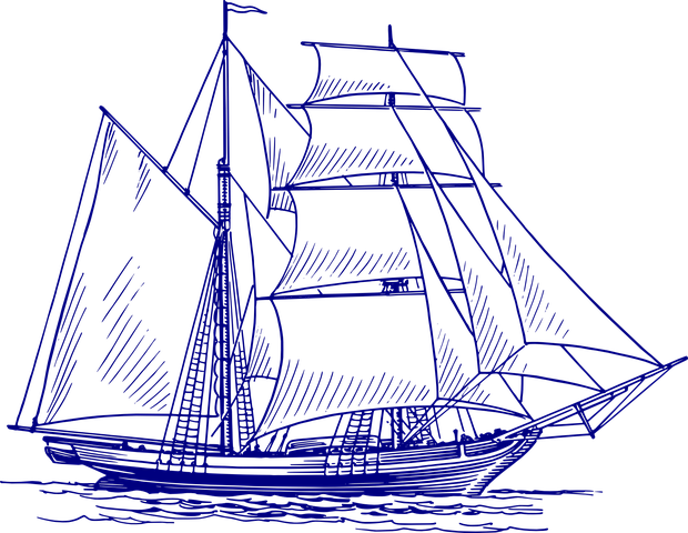 Segelschiff Schiff Meer Boot Malen Zeichnen In 2019 Drawings