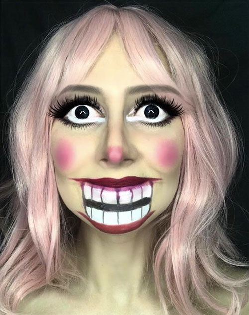 25+ Best Halloween Face Paint Ideas & Looks For Kids, Men & Women 2019 - Idea Halloween #dollfacepainting
