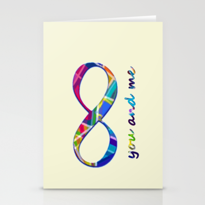 You me infinity stationery cards by gretzky set of 3 12 00