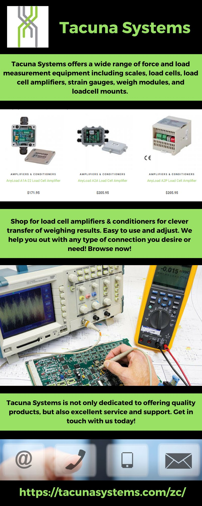 Load Cell Amplifiers Conditioners Tacuna Systems Tacunasystems Amplifier