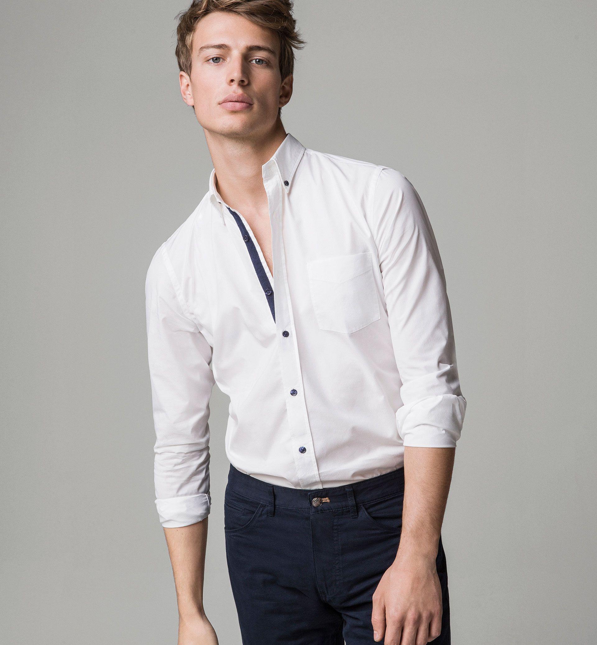 Slimfit textured weave shirt Надо купить pinterest