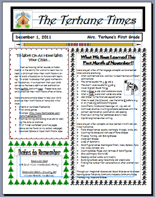 I Really Want To Do Class Newsletters Next Year!! | |In The