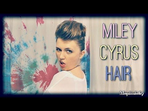 Miley Cyrus Pompadour Hair Tutorial/Parody - Make Medium to Long Hair Look Short!