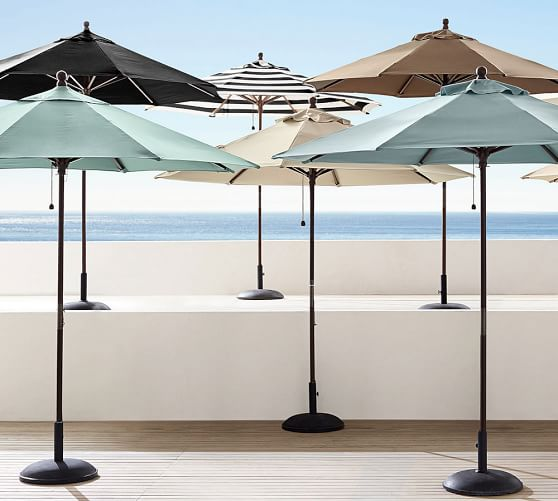 6 Round Outdoor Umbrella Rustproof Aluminum Tilt Frame