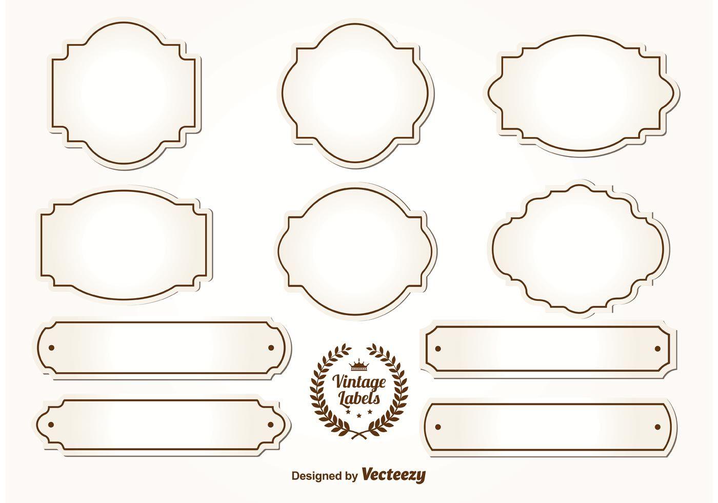 Blank Vintage Labels Etikettenvorlagen Etiketten