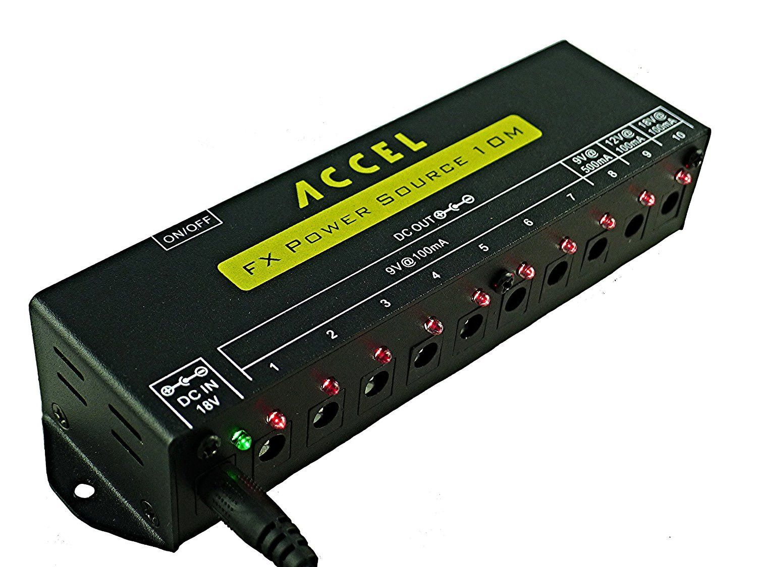 Accel - Power Source 10m, Regulated Power Supply for 10 Pedals!