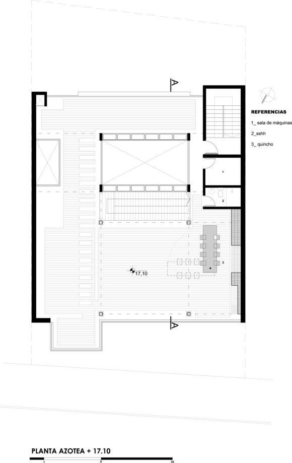 03_planta-azotea edif san fra jose cubilla Pinterest San