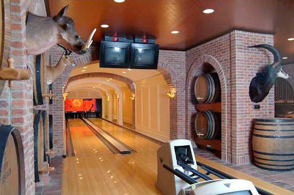Home Bowling Alley Brick Arches 12th Frame Ideas
