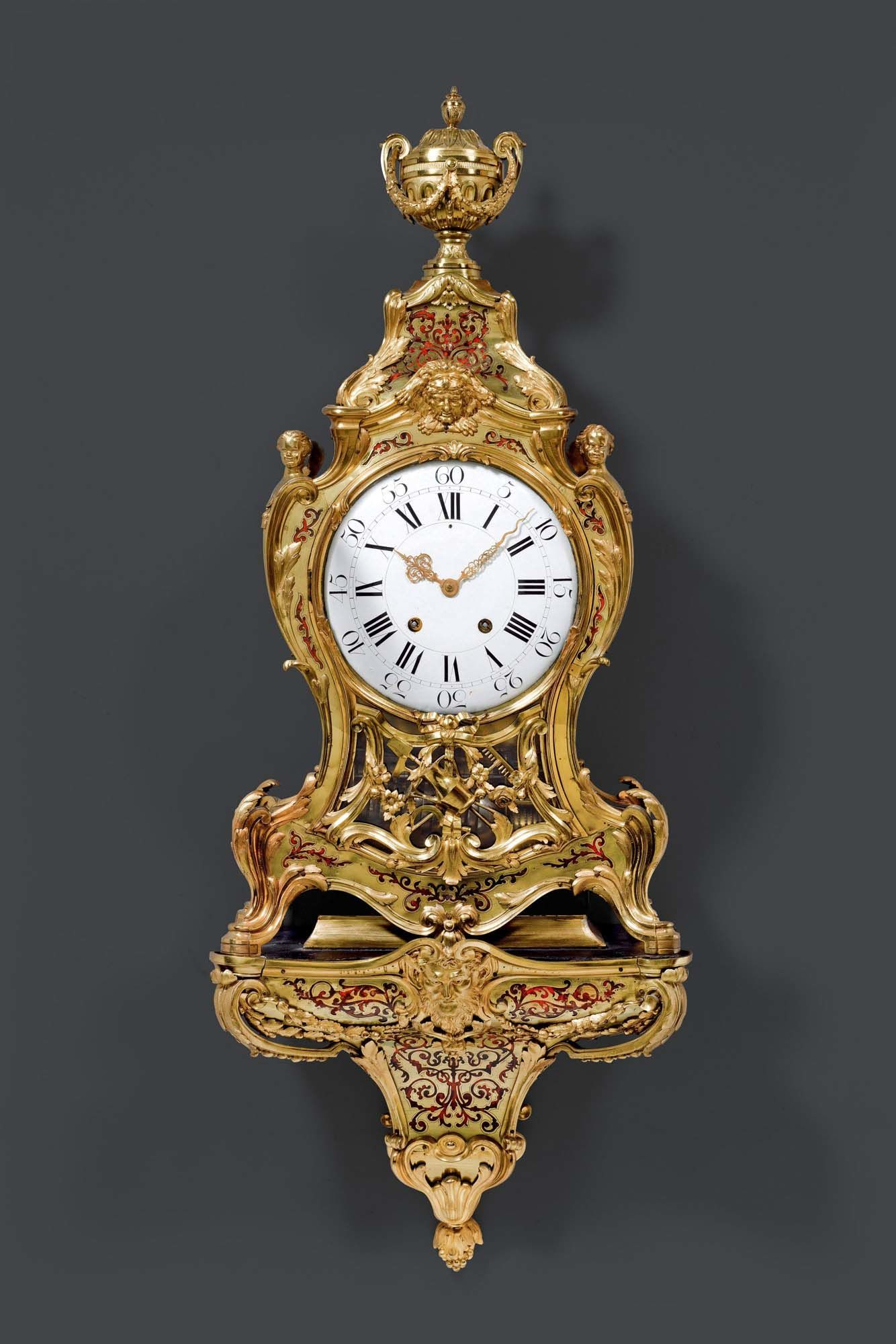 C1720 Boulle Clock With Carillon And Plinth Regence The Movement