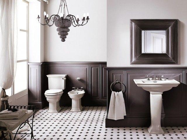 Boiserie Bagno Moderno : Idee per un bagno moderno e accogliente