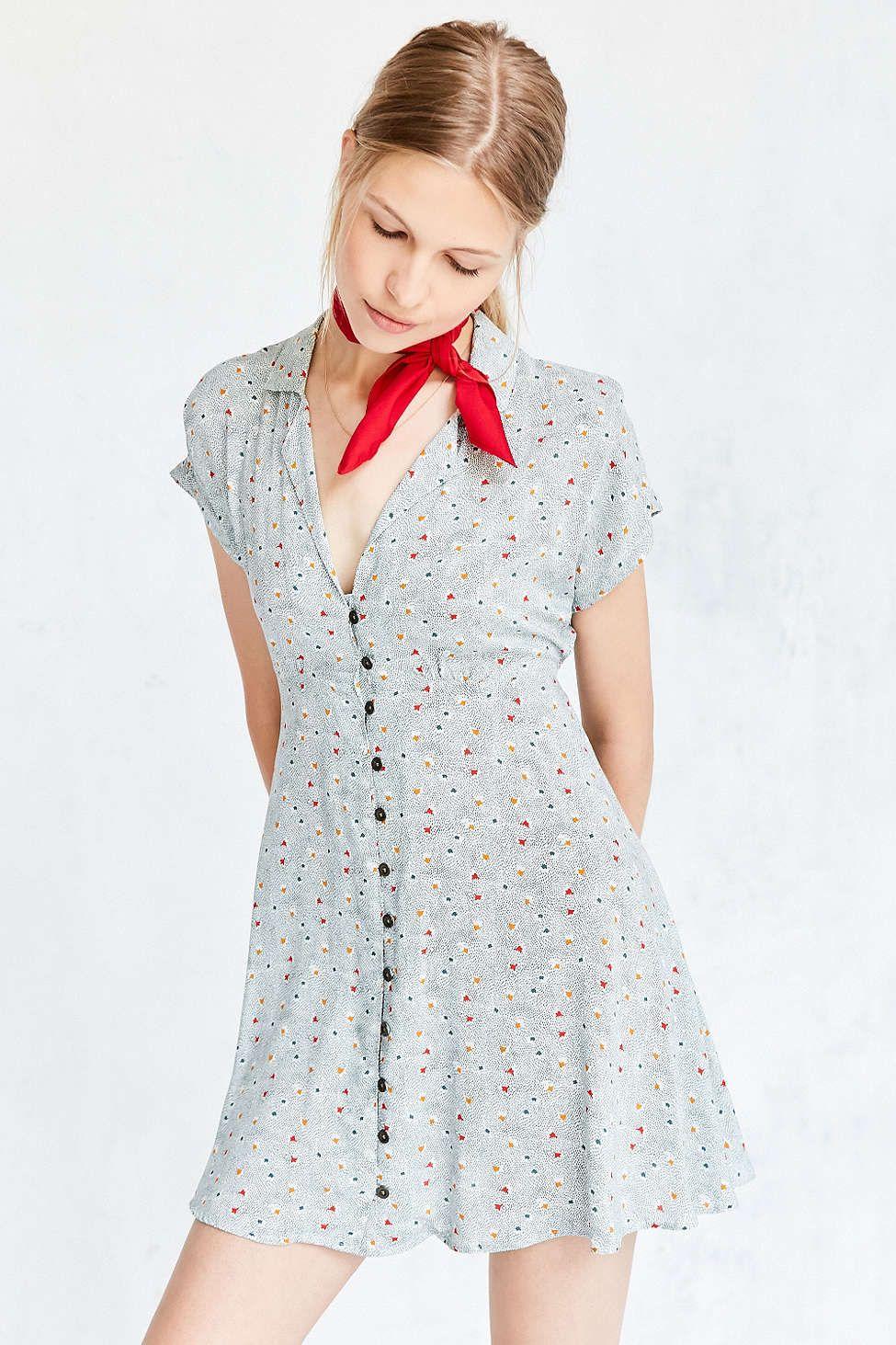 6bf78b14cf2 Kimchi Blue Lucy Printed Shirt Dress