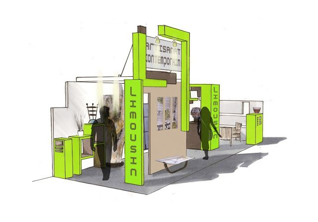 Imaginer \ Créer Scénographie et évènementiel  Stand pour le salon - creer un plan de maison