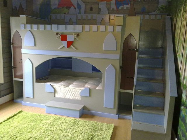 Boys Castle Dream Fairytale Themed Bunk Bed Kids Bedroom