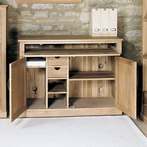 oak hidden home office baumhaus mobel solid oak hidden home office mobel at store innovative hidden home office designed to hide all of your computer equipment made from solidu2026 solidoakhiddenhomeofficemobel furniture pinterest