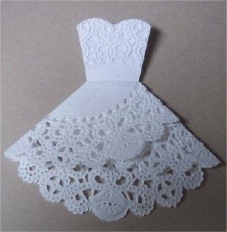 Платье на открытку своими руками из салфеток