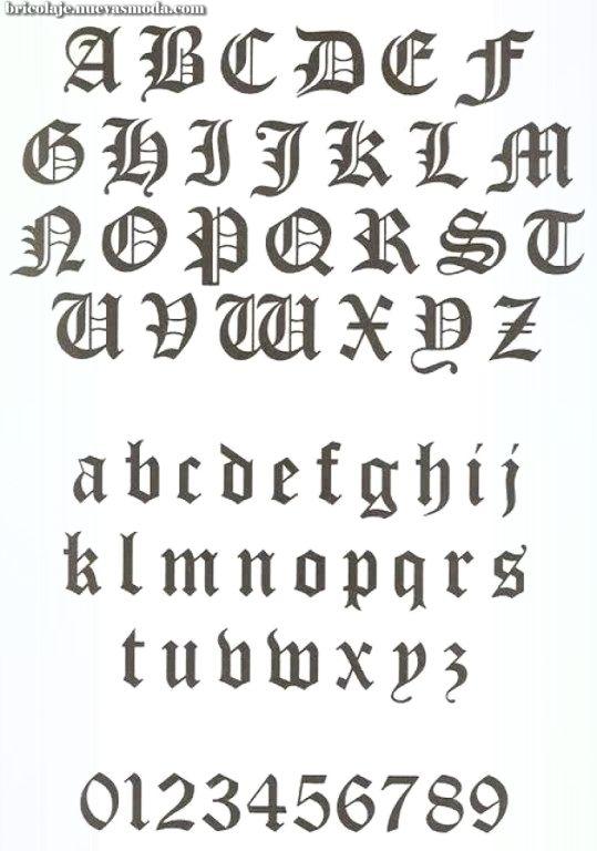 Abecedario Letras Para Tatuajes