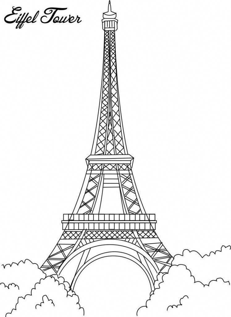 If The Tour Eiffel Is The Sign Of Paris The Cathedrale De Notre Dame De Paris Is Its Heart Resting On Eiffel Tower Drawing Eiffel Tower Eiffel Tower Pictures