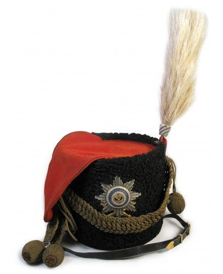 A RUSSIAN IMPERIAL PARADE BUSBY HAT OF AN OFFICER OF THE
