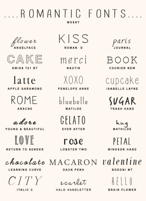 Download imjaeboms:imjaeboms' font pack #225 romantic style fonts ...