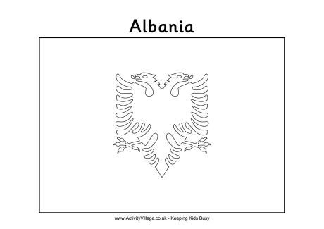 Albania Colouring Flag Flag Crafts Albania Flag Albania