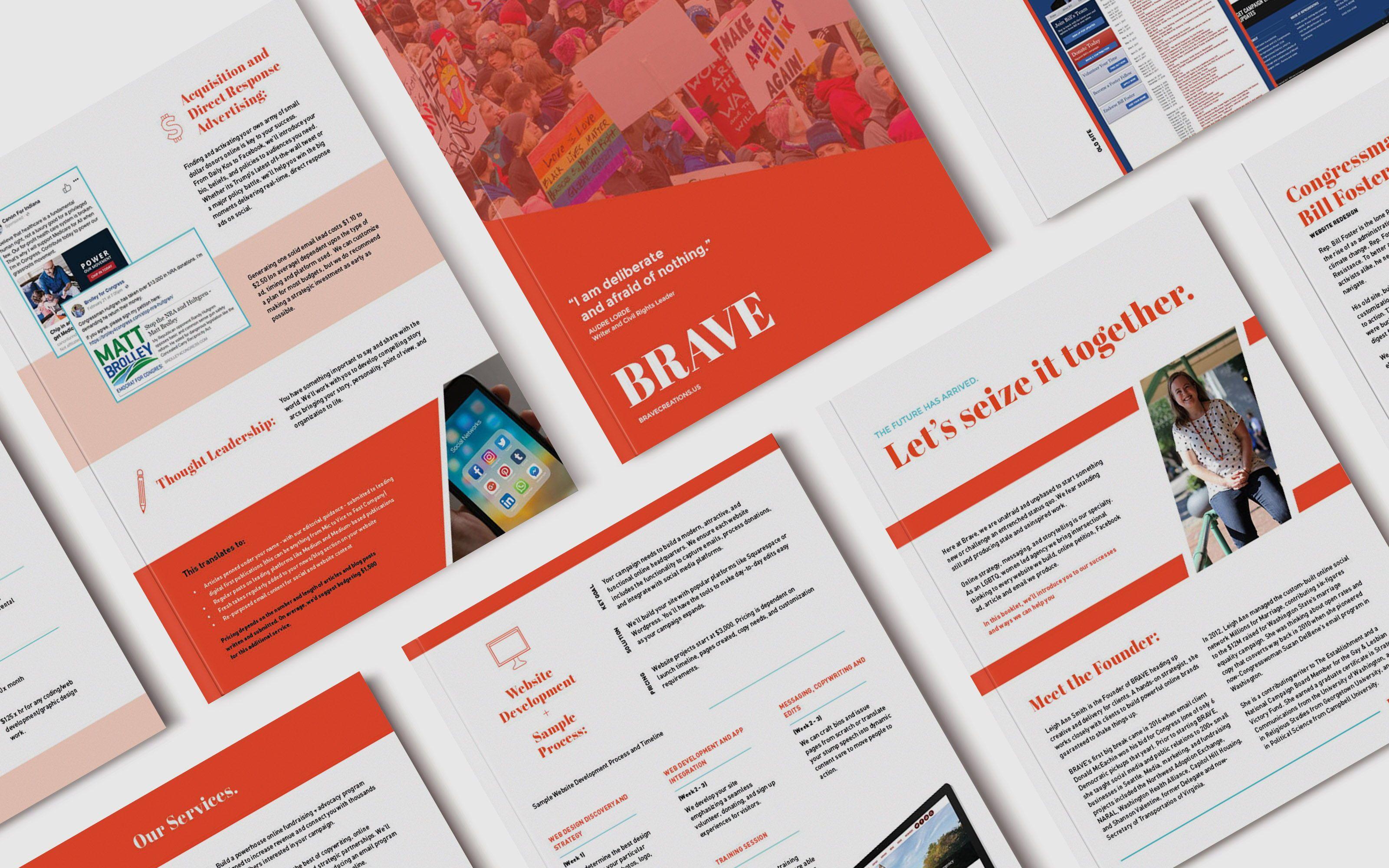 Brave Marketing Brand Guidelines Print Design Booklet