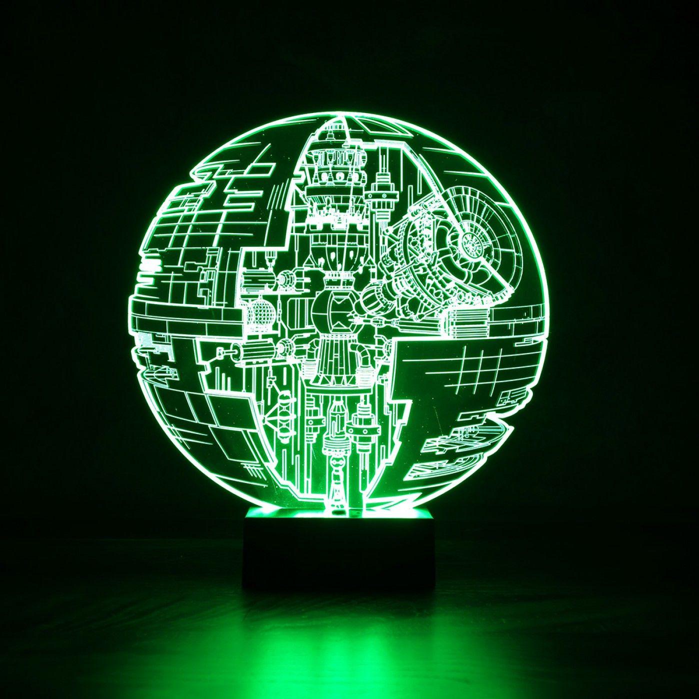 Für Deine Geek Freunde: Die Star Wars Todesstern Leuchte Mit 3D Effekt