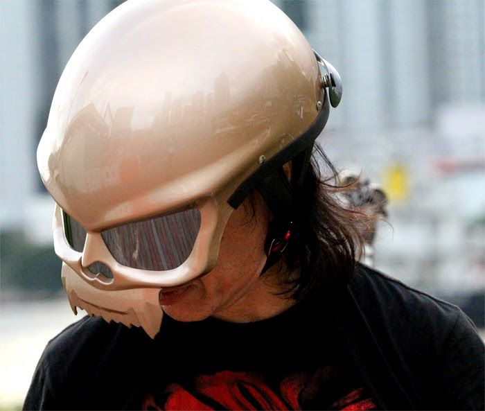 Masei 429 Skull Helmets with tinted visor shields - New Model for the year of 2015 to replace 419 and 409