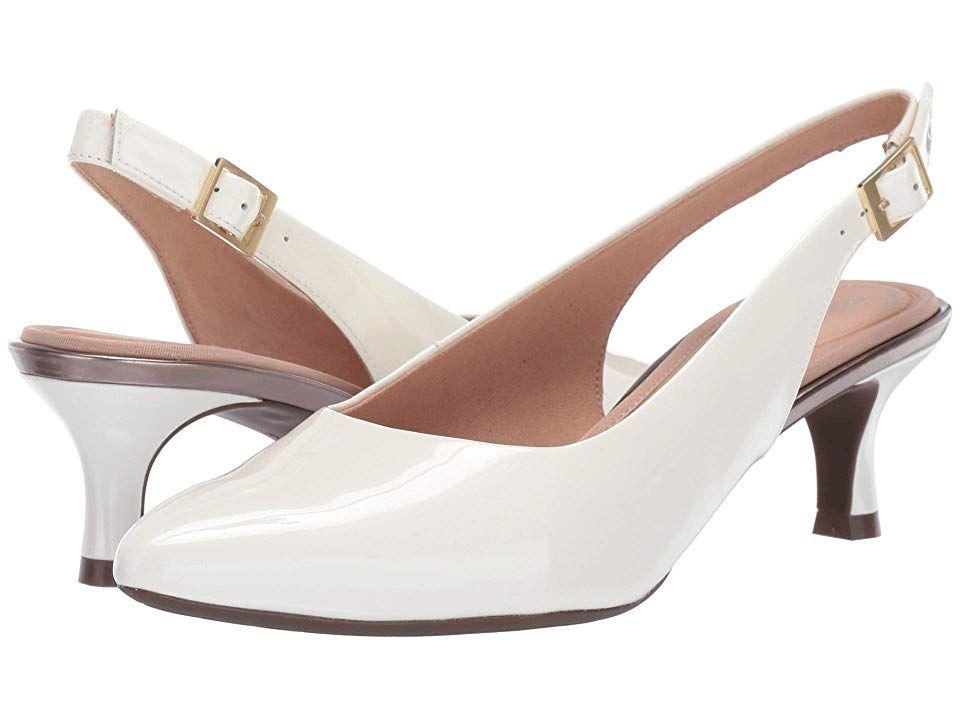 2497f0be464 Rockport Total Motion Kaiya Sling Women s Sling Back Shoes White Patent