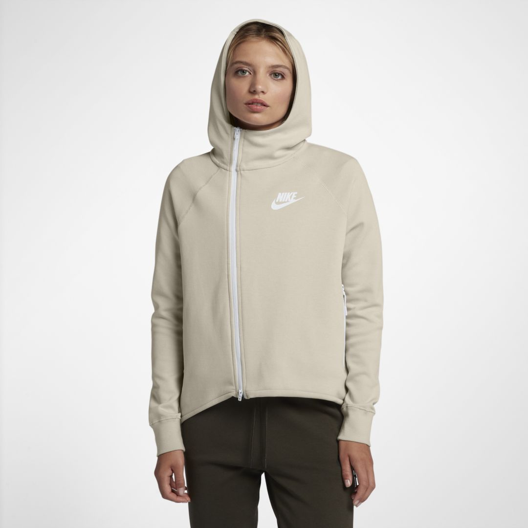 6b407459f Nike Sportswear Tech Fleece Women's Full-Zip Cape Size 2XL (Desert Sand)