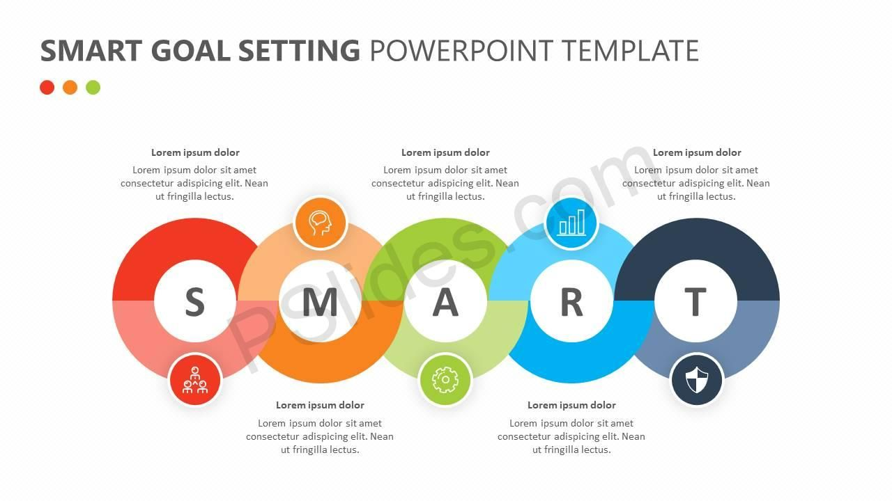 Use smart goal powerpoint template to showcase smart goal setting.