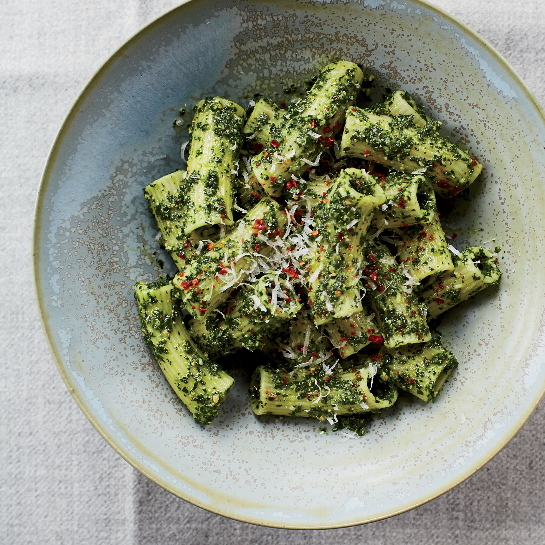 Rigatoni with lemony kale and pecorino pesto recipe rigatoni rigatoni with lemony kale and pecorino pesto recipe rigatoni pesto and kale forumfinder Image collections