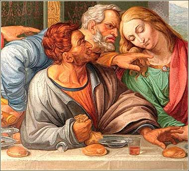Image result for judas at the last supper