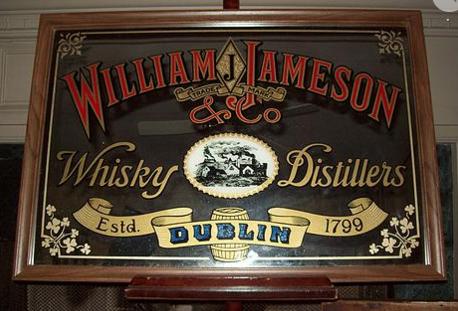 vintage william j jameson bar mirror framed vintage bar mirror
