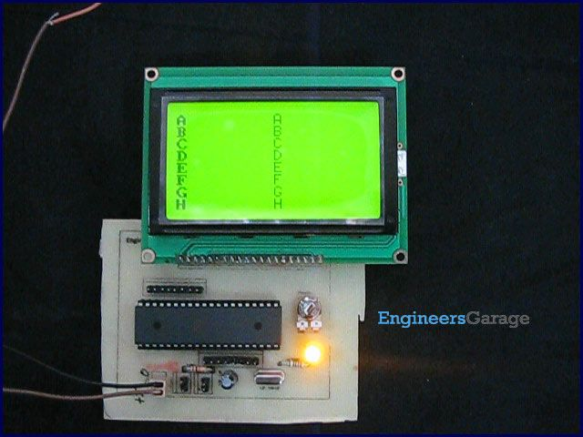 How to interface Graphics LCD with 8051 Microcontroller (AT89C52