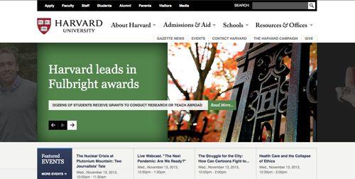 harvard university website