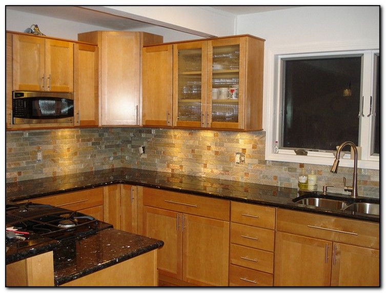 Oak Cabinets With Black Granite Countertops Antique Ivory