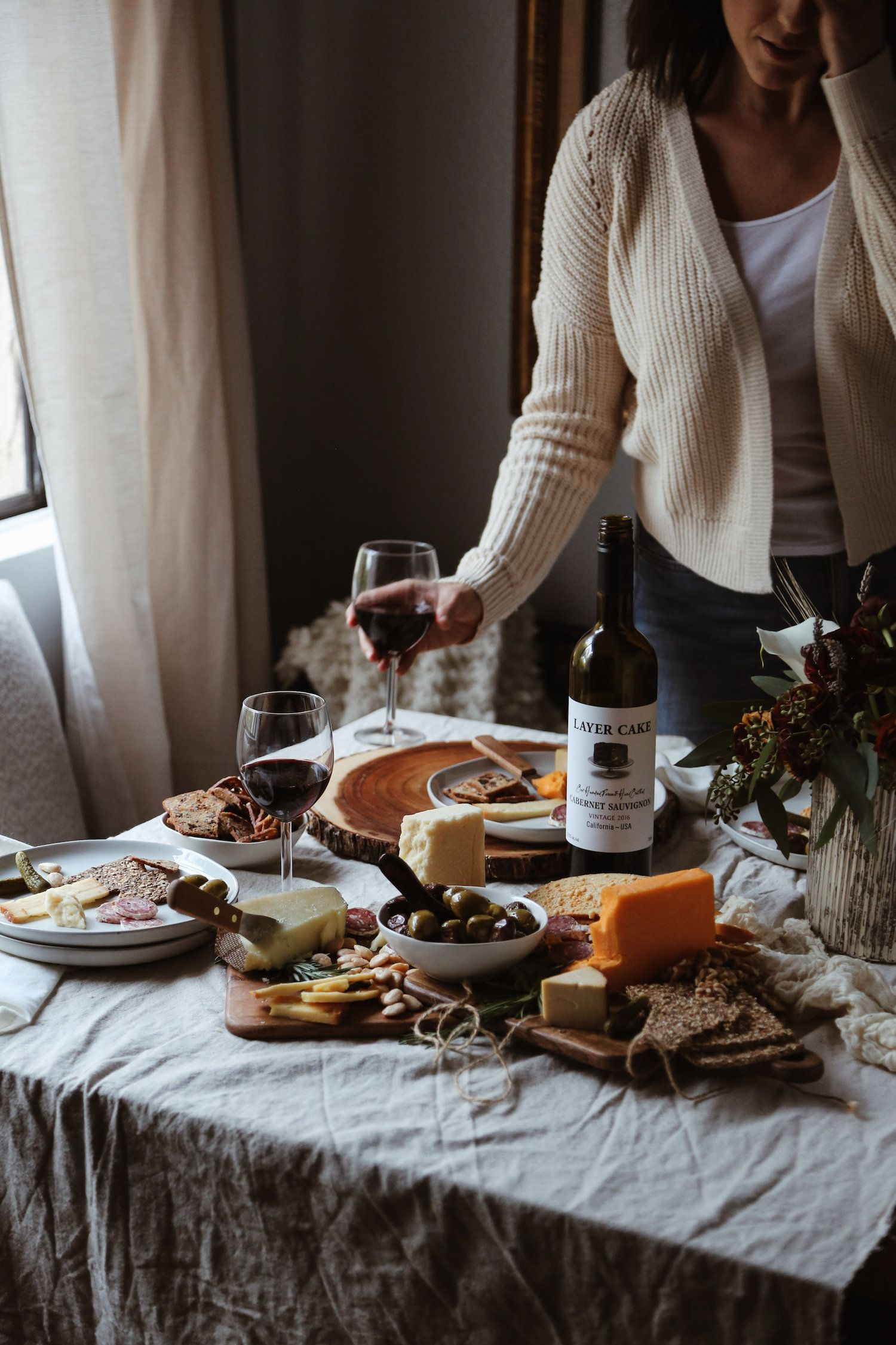 A fall wine cheese tasting party cheese tasting