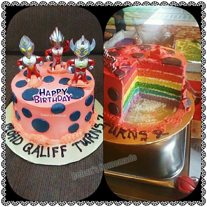 Rainbow cake #ultraman theme