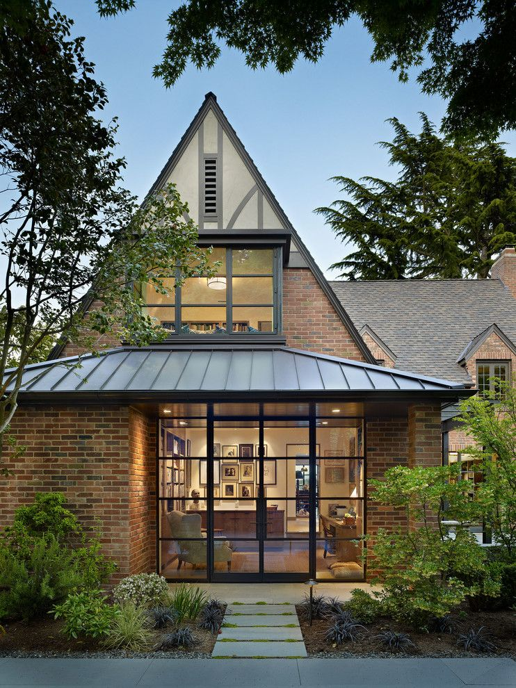 Modern Addition To Old House Exterior Traditional With Dormer Windows Red Brick Walls Steep Gable Steep Gable 1 Jp Tudor Style Homes Tudor House House Exterior