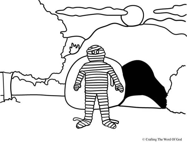 40+ Coloring page lazarus raised from the dead HD