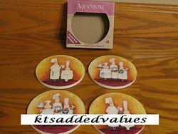 The Sophisticates Snobby Chefs Aquastone Coasters : KTs Added Values, Collectibles Home and Kitchen Decor
