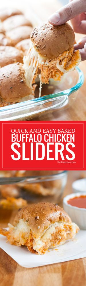 These Quick and Easy Baked Buffalo Chicken Sliders are one ...