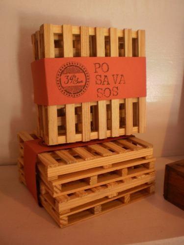 Posavasos Estilo Mini Pallet - Decoración - X4 Unidades - $ 60,00 COMPRAR!!