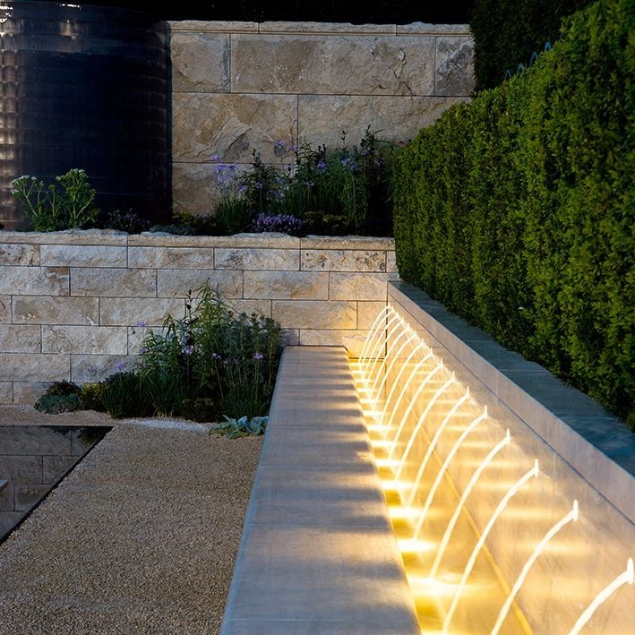 Modern Garden Design Ideas: Beautiful Way Of Using Garden Lighting By Thomas Hoblyn