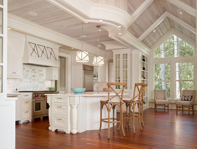 Kitchen Whitewashed Wood Ceiling Kitchen Features Vaulted Whitewashed Shiplap Ceiling And Tongue And Groove Wood Beam Ceiling White Wash Ceiling Wood Ceilings