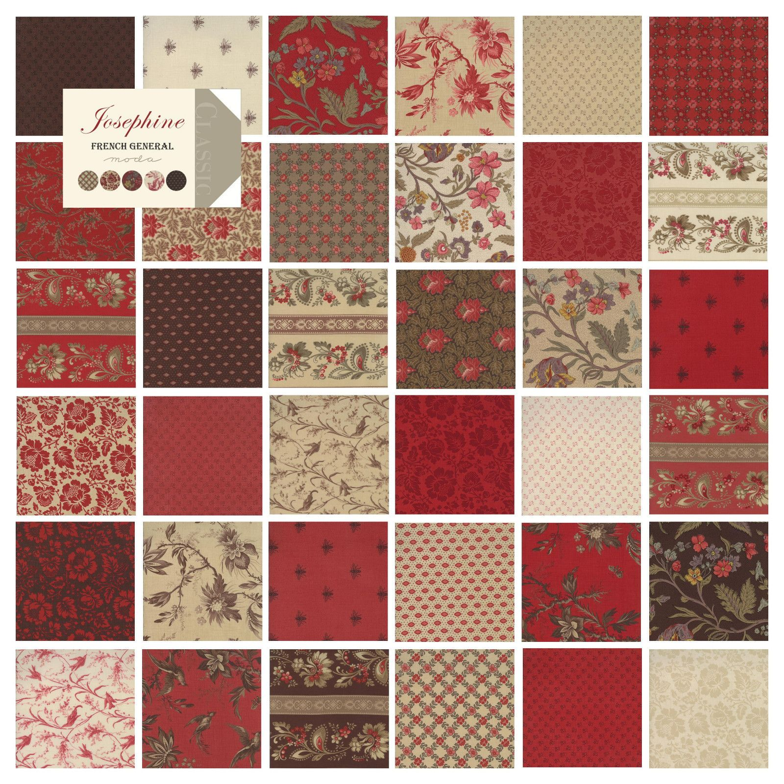 Josephine French General Moda Fabric Quilt Charm Pack 42 5