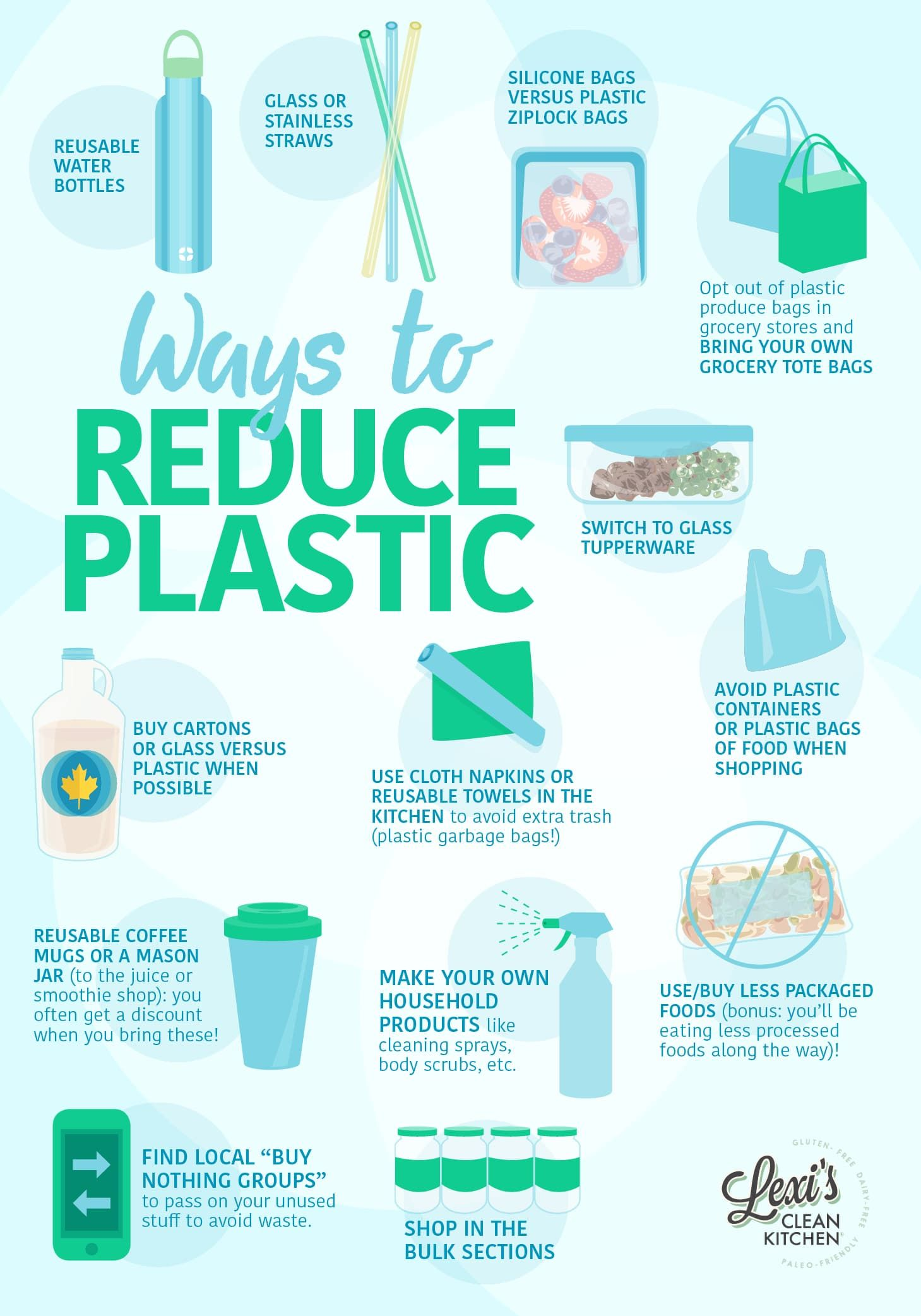 Ways to Reduce Plastic #reducewaste #plasticfree #cleanliving ...